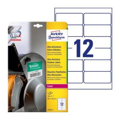 Etikett AVERY L7913-10 99,1x42,3mm ultra ellenálló címke 120 címke/doboz 10 ív/doboz