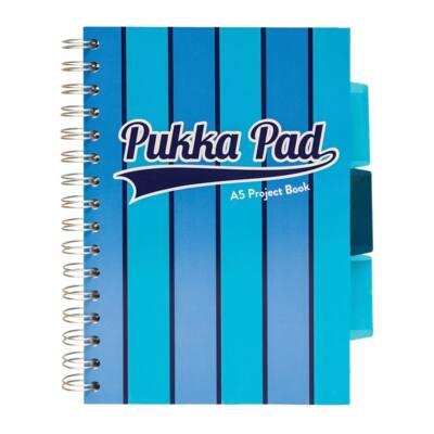 Spirálfüzet PUKKA PAD Vogue regiszteres A/5 100 lapos vonalas kék