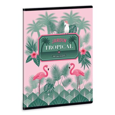 Füzet ARS UNA A/5 40 lapos Extra kapcsos kockás Pink Flamingo 1