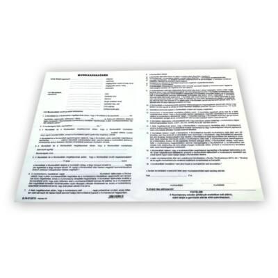 Nyomtatvány munkaszerződés A/3 3 Lapos ÚJ