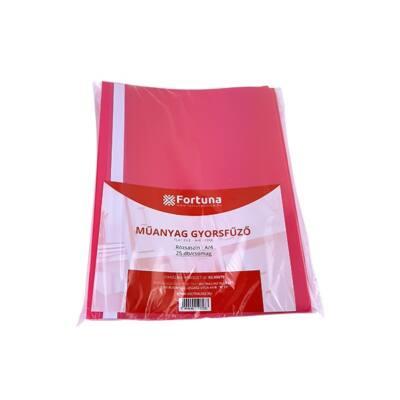 Gyorsfűző FORTUNA műanyag rózsaszín 25 db/csomag