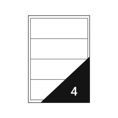 Etikett FORTUNA 192x61mm univerzális iratrendezőre 400 címke/doboz 100 ív/doboz