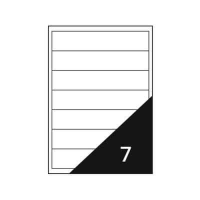 Etikett FORTUNA 192x38 mm univerzális 700 etikett/doboz 100 ív/doboz