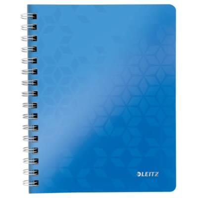 Spirálfüzet LEITZ Wow A/5 80 lapos vonalas kék