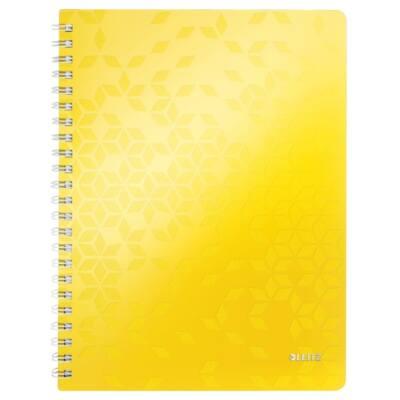 Spirálfüzet LEITZ Wow A/4 80 lapos kockás sárga