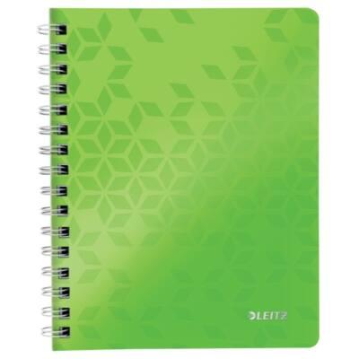 Spirálfüzet LEITZ Wow A/5 80 lapos vonalas zöld