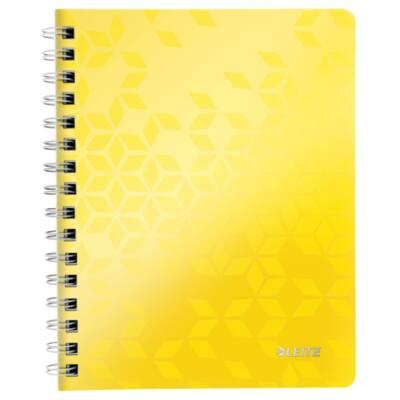 Spirálfüzet LEITZ Wow A/5 80 lapos vonalas sárga