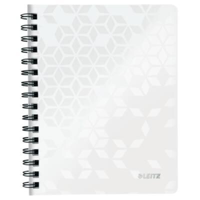 Spirálfüzet LEITZ Wow A/5 80 lapos kockás fehér