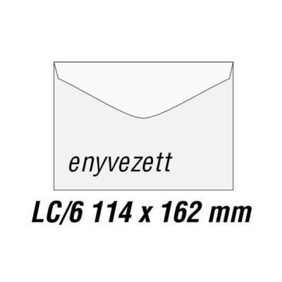 Boríték GPV LC/6 enyvezett bélésnyomott 114x162mm 1000 db/doboz