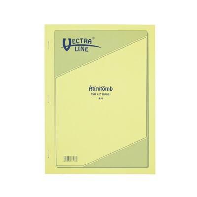 Önátírótömb VECTRA-LINE A/4 50x2 példány