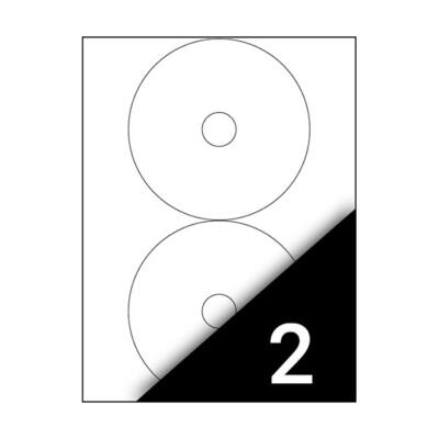 Etikett FORTUNA 117 CD címke univerzális 200 címke/doboz 100 ív/doboz
