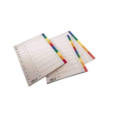 Regiszter SPOKO A/4 műanyag 5 szín