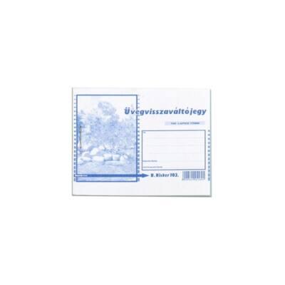 Nyomtatvány üvegvisszaváltó jegy