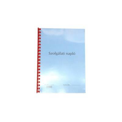 Nyomtatvány szolgálati napló/őrnapló A/4
