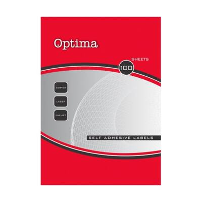 Etikett OPTIMA 32115 210x148mm 200 címke/doboz 100 ív/doboz