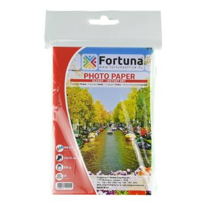 Fotópapír FORTUNA 10x15 inkjet fényes 255 gr 50 ív/csomag