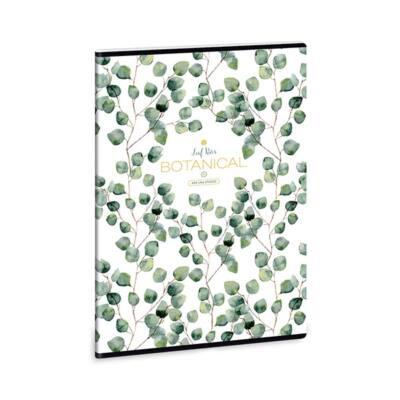Füzet ARS UNA A/4 40 lapos kockás Botanic Leaf