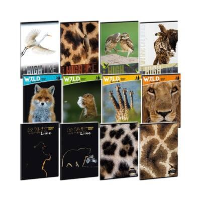 Füzet ARS UNA A/4 40 lapos Extra kapcsos sima Wild Life Moments