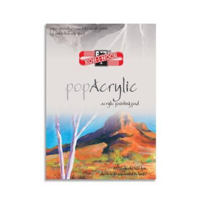 Rajztömb KOH-I-NOOR Pop Acrylic A/3 speciális papírból 400gr 10 lapos