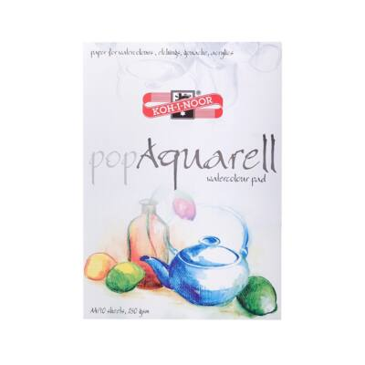 Rajztömb KOH-I-NOOR Pop Aquarell A/4 speciális papírból 250gr 10 lapos