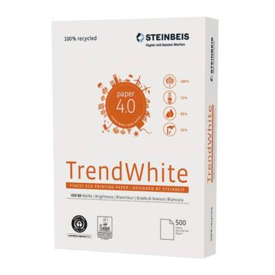 Fénymásolópapír STEINBEIS NO 2. ISO 80-s A/4 újrahasznosított 80 gr 500 ív/csomag