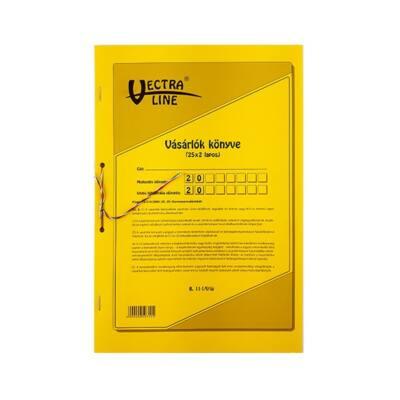 Nyomtatvány vásárlók könyve VECTRA-LINE A/4 25x2 álló GDPR kompatibilis