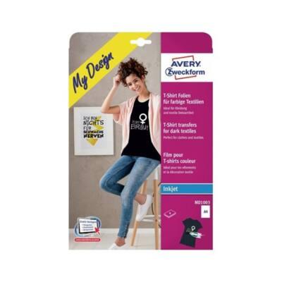 Etikett AVERY MD1003 sötét pólóra vasalható 4 ív/csomag
