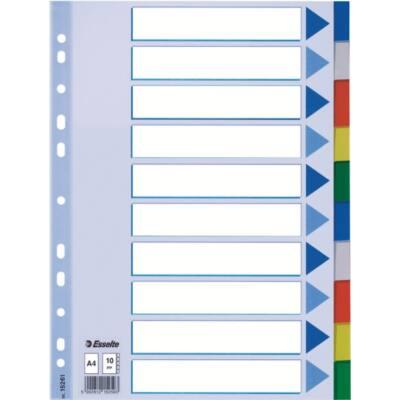 Regiszter ESSELTE A/4 műanyag 10 részes