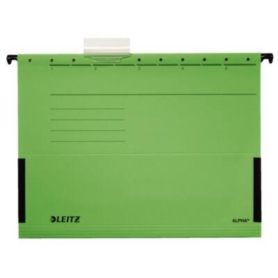 Függőmappa oldalvédelemmel LEITZ Alpha Standard A/4 karton zöld 25 db/doboz