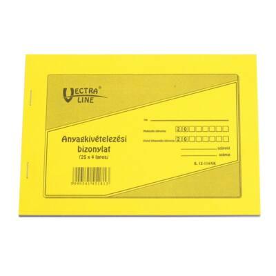 Nyomtatvány anyag kivét VECTRA-LINE 25x4 8 tételes