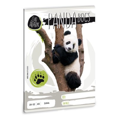 Füzet ARS UNA A/5 32 lapos sima 12-32 Cuki állatok-panda