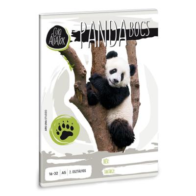 Füzet ARS UNA A/5 32 lapos vonalas 16-32 II.osztályos Cuki állatok-panda