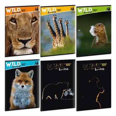 Füzet ARS UNA A/4 40 lapos Extra kapcsos kockás Wild life moments