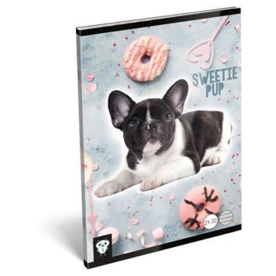 Füzet LIZZY A/5 32 lapos vonalas 21-32 Sweetie pup