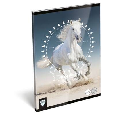 Füzet LIZZY CARD A/5 32 lapos vonalas 21-32 Horse