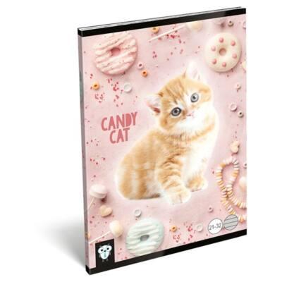 Füzet LIZZY A/5 32 lapos vonalas 21-32 Candy Cat
