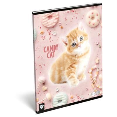 Füzet LIZZY CARD A/4 32 lapos vonalas 81-32 Candy Cat