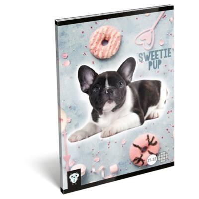 Füzet LIZZY A/5 32 lapos kockás 27-32 Sweetie pup