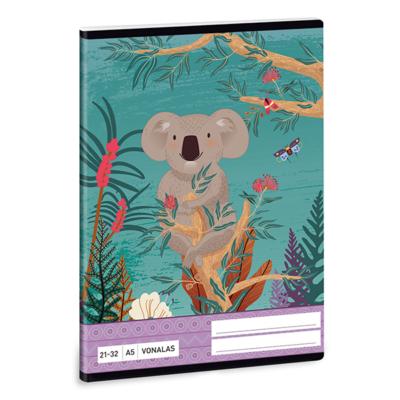 Füzet ARS UNA A/5 32 lapos vonalas 21-32 Kirra Koala