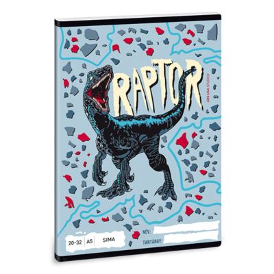 Füzet ARS UNA A/5 32 lapos sima 20-32 Raptor