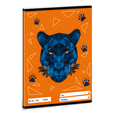 Füzet ARS UNA A/5 32 lapos sima 20-32 Black Panther