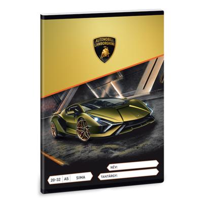 Füzet ARS UNA A/5 32 lapos sima 20-32 Lamborghini