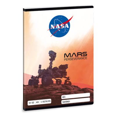 Füzet ARS UNA A/5 32 lapos vonalas 12-32 III. osztályos NASA-1