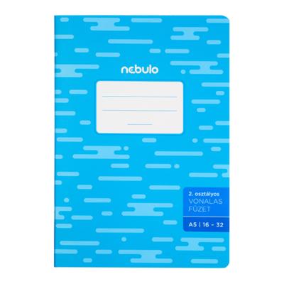 Füzet NEBULO basic+ A/5 32 lapos vonalas 16-32 II.osztályos