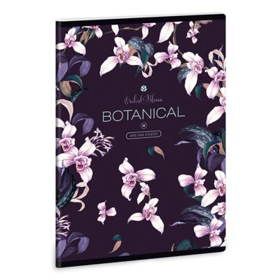 Füzet ARS UNA A/5 40 lapos Extra kapcsos kockás Botanic Orchid