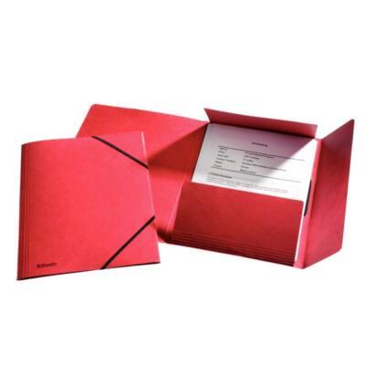 Gumis mappa ESSELTE luxus karton piros