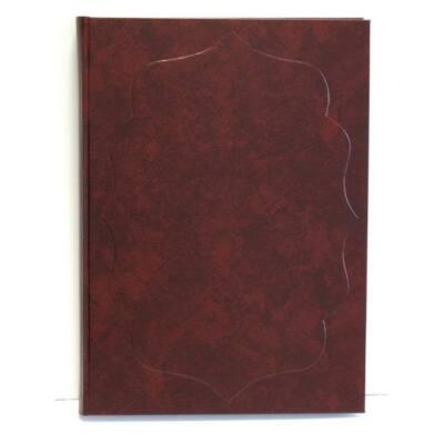 Vendégkönyv A/4 160 lapos sima bordó