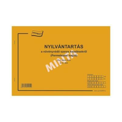 Nyomtatvány permetezési napló