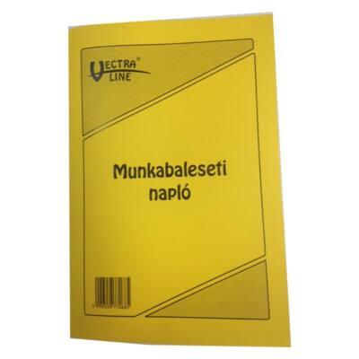 Nyomtatvány munkabaleseti napló VECTRA-LINE A/5 álló