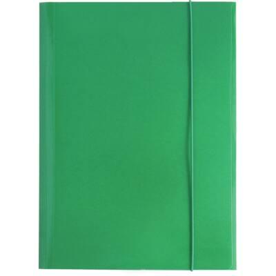 Gumis mappa OPTIMA A/4 zöld 600gr